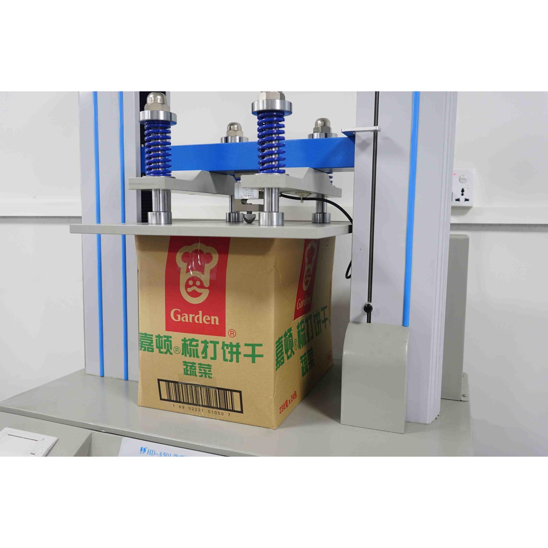 Microcomputer type paper box compression testing machine