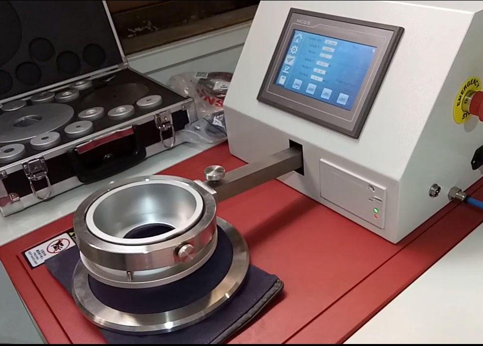 Textile air permeability tester