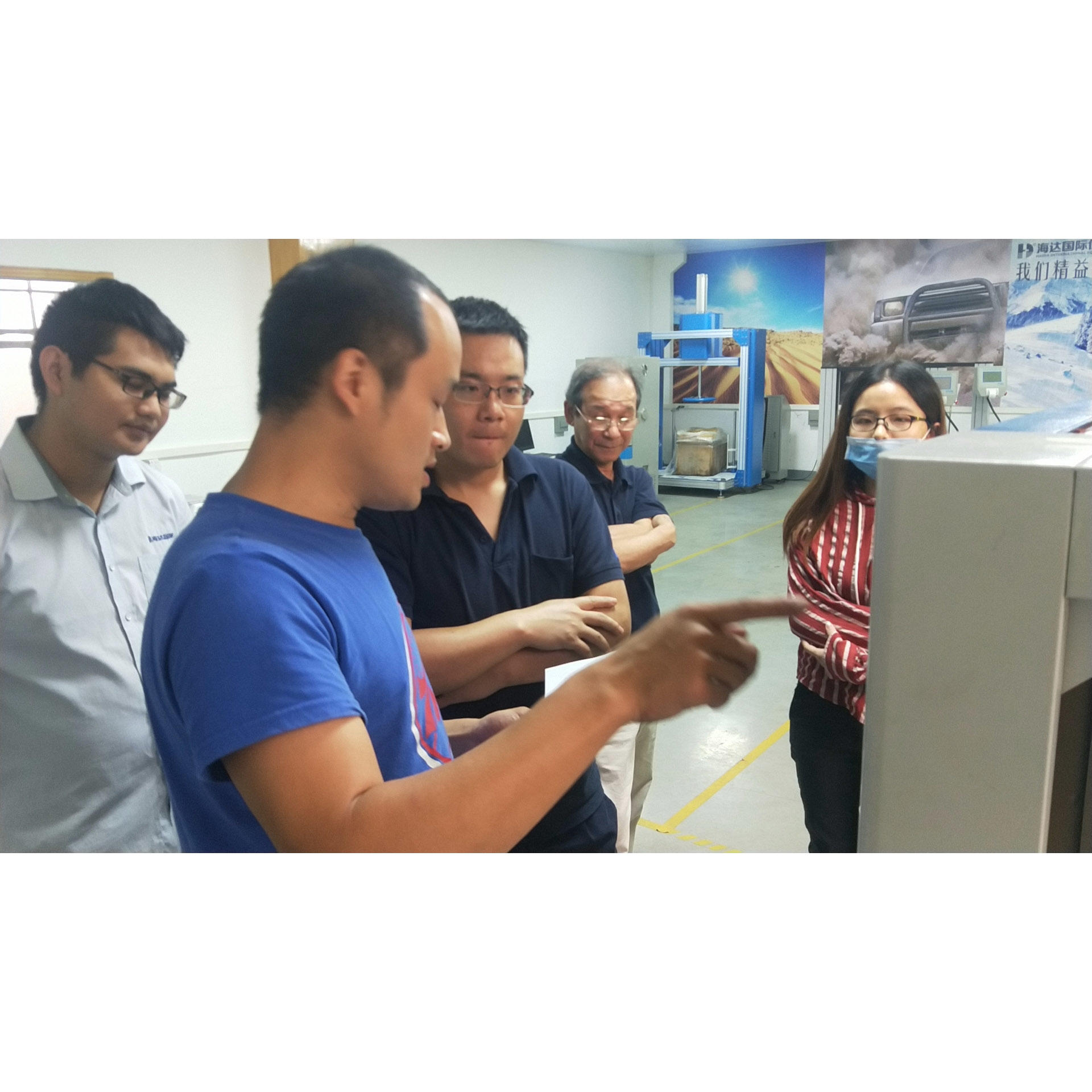 August 20 Customer visit factory
