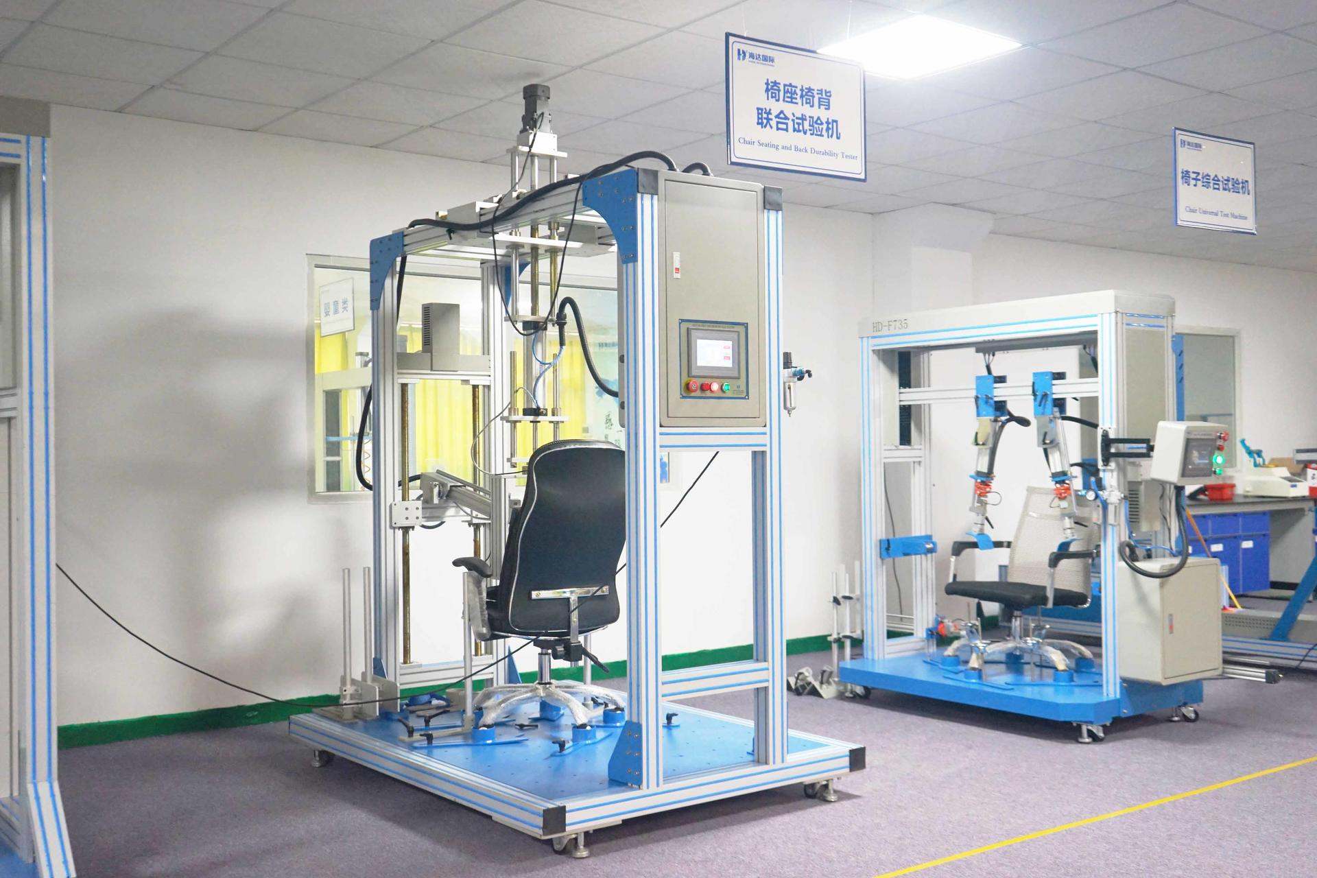 Chair seat back joint testing machine