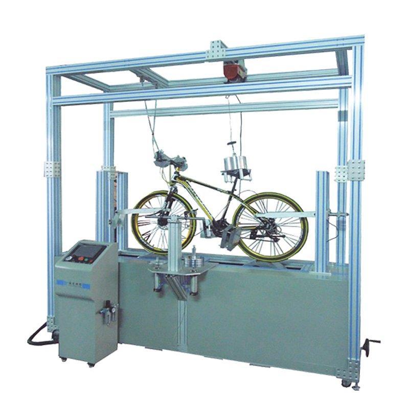 Dynamic road bike run testing machine