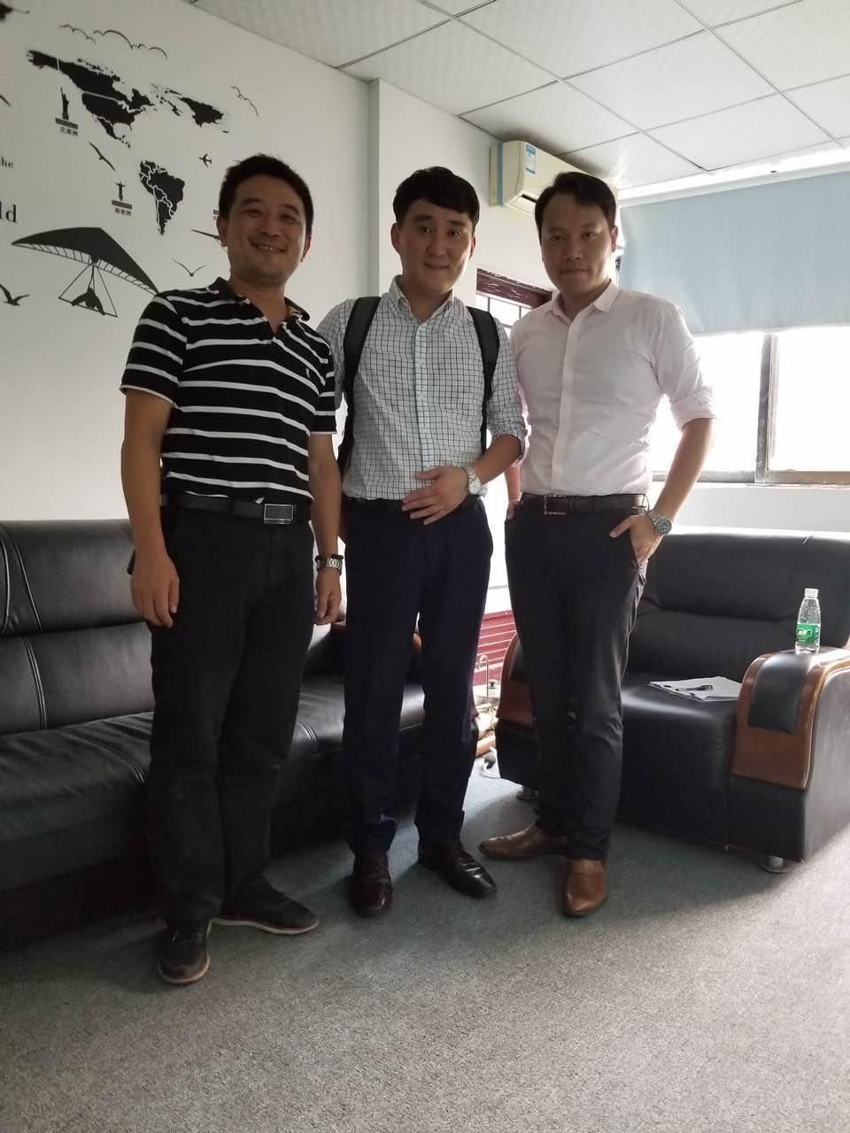 Korean customers who buy compression test machines come back to the factory