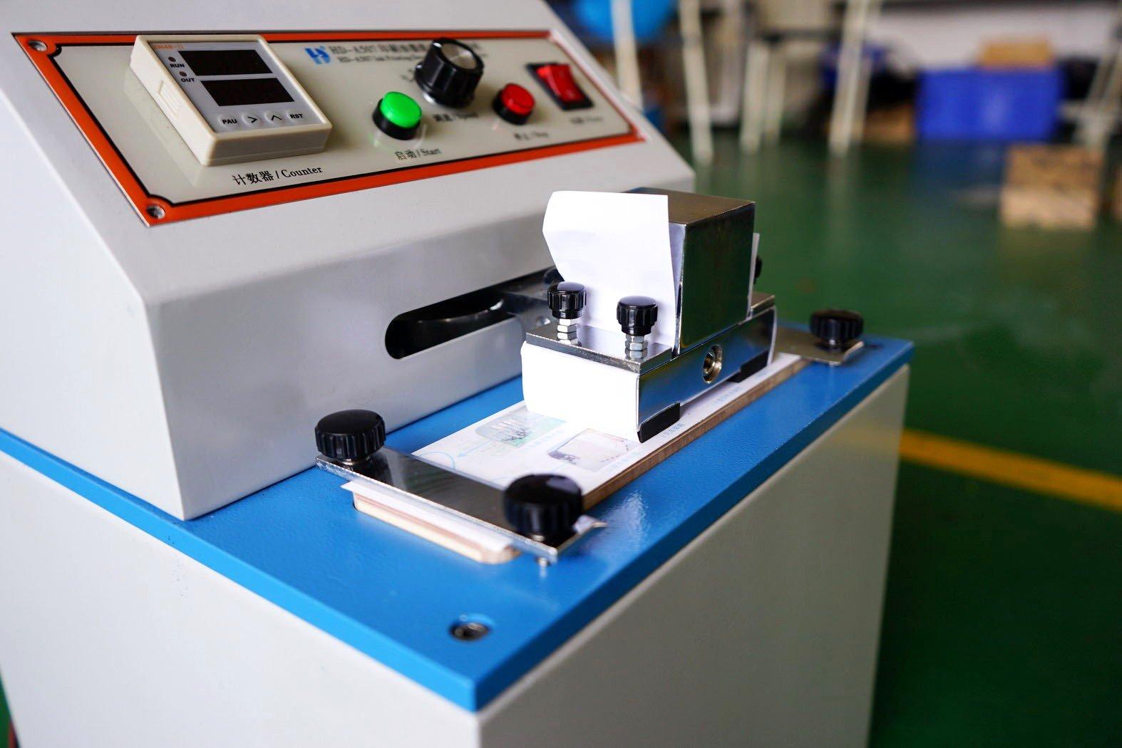 Paper Ink Rub Resistance Machine
