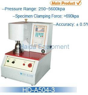 Paperboard Burst Strength Tester