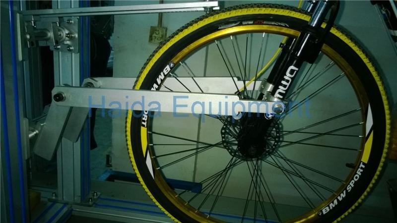 Bike dynamic road testing machine