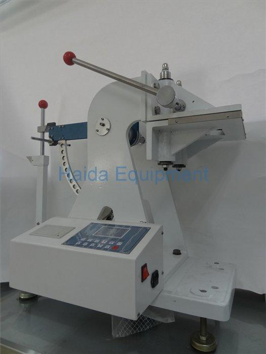 Cardboard puncture resistance testing machine